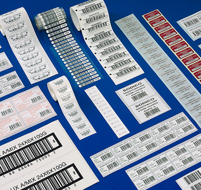 Thermal printing barcode labels stickers